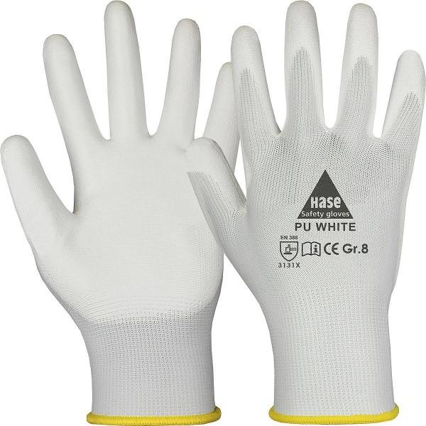 PU WHITE Montagehandschuh aus Polyester/PU
