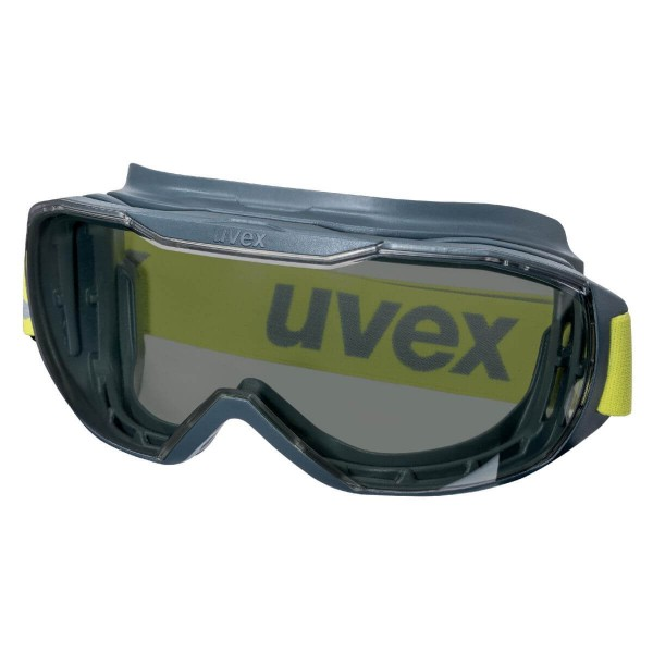 uvex megasonic Anthrazit-Lime Vollsichtbrille