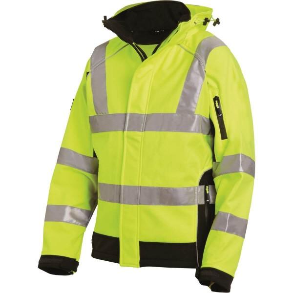 FHB FELIX Warnschutz-Softshell-Jacke EN-20471-3