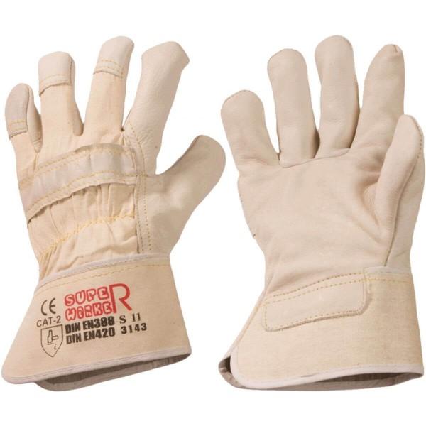 Rindvolleder-Handschuhe Super Worker