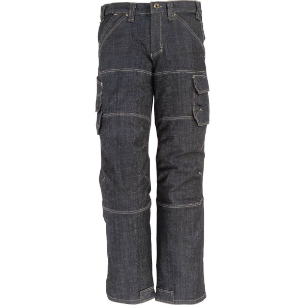 FHB WILHELM Jeans Arbeitshose, schwarzblau