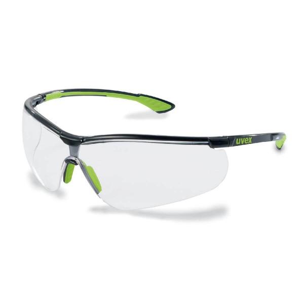 uvex Sportstyle Schwarz-Lime Bügelschutzbrille