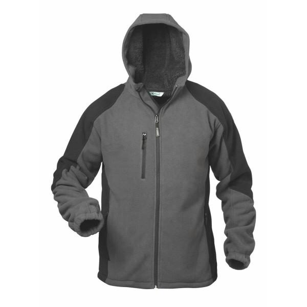 elysee Tampere Fleece-Jacke grau/schwarz