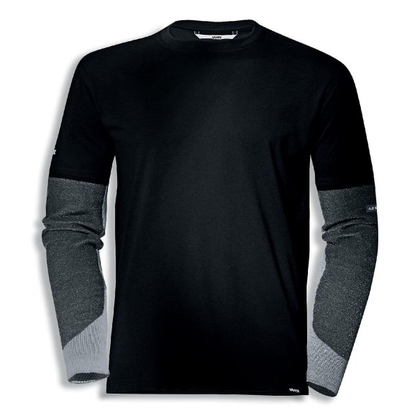 uvex cut quatroflex T-Shirt schwarz schnittfest