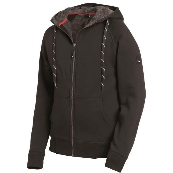 FHB JÖRG Sweater-Jacke mit Kapuze und Webpelz
