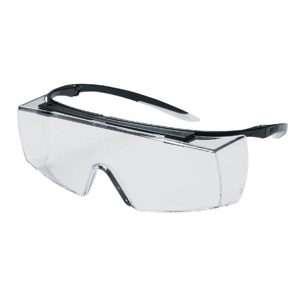uvex super f OTG Schwarz-Weiß klar Überbrille